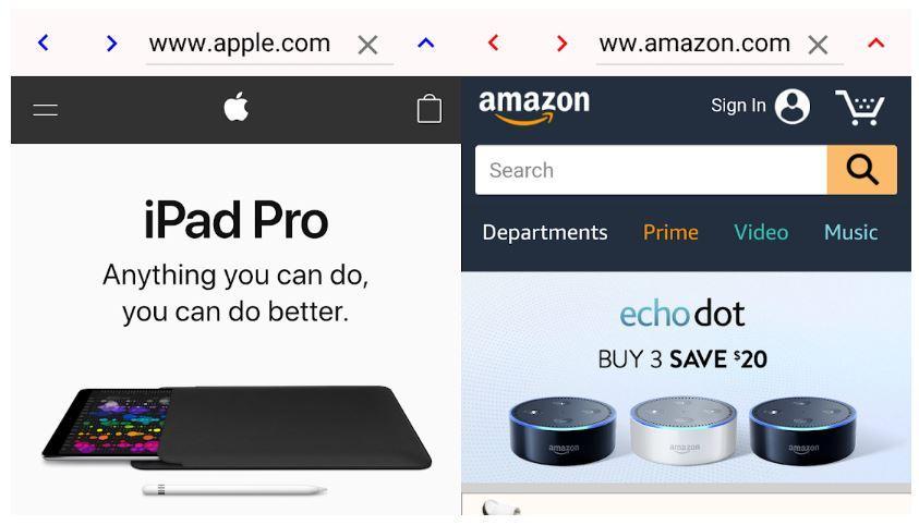 Aplicación Dual Browser