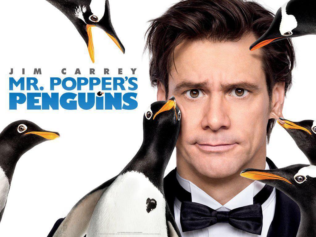 Portada de los Pingüinos de Mr Poppers