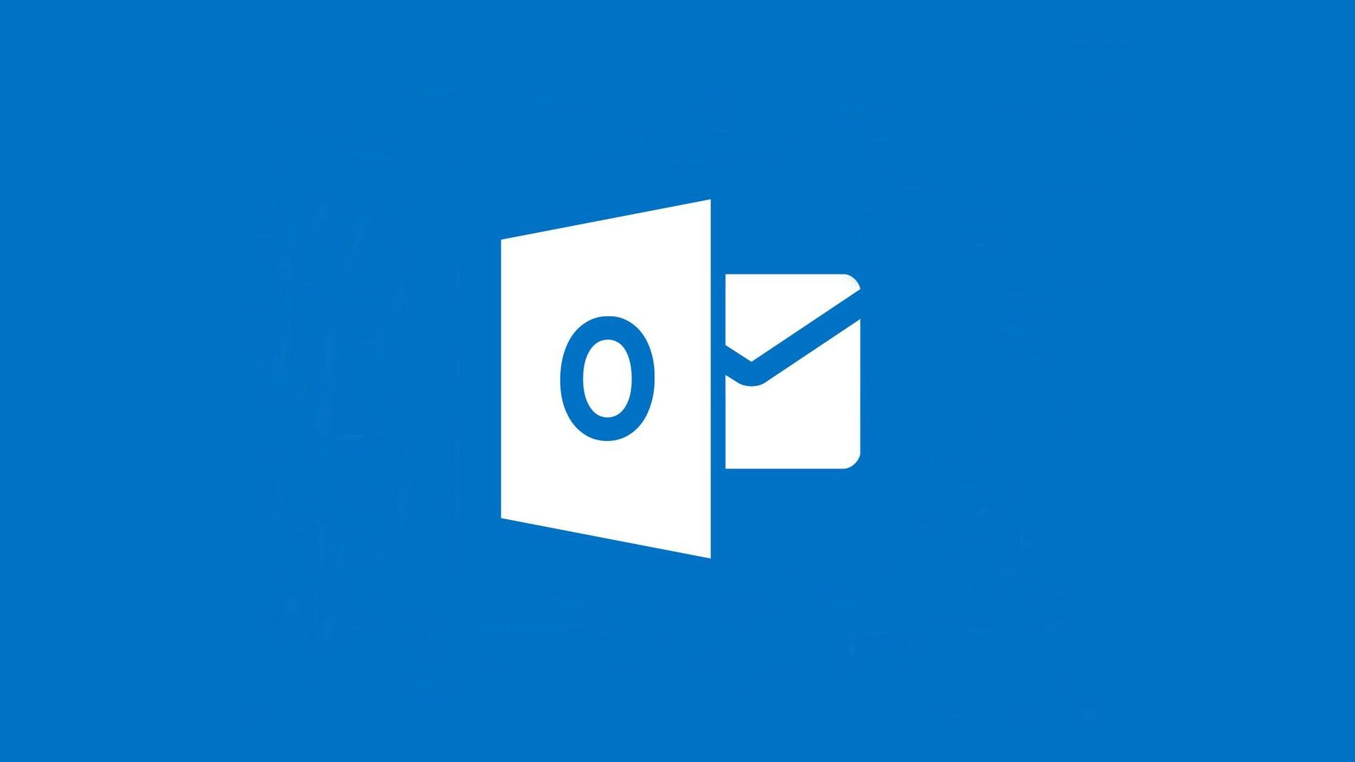 Logotipo de Outlook con fondo azul