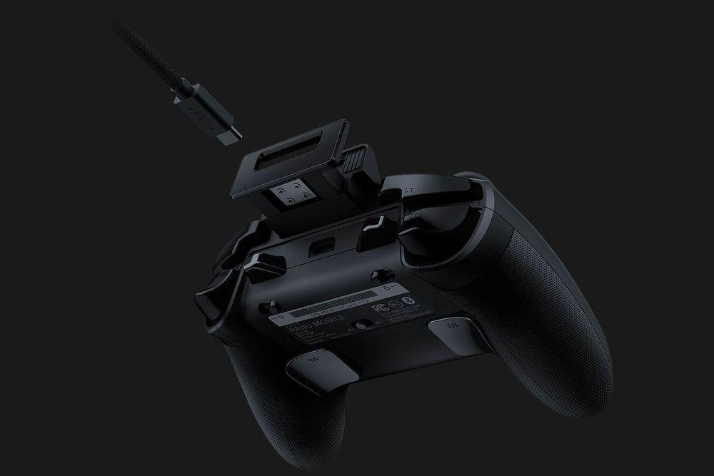 Elementos del mando Razer Raiju Mobile