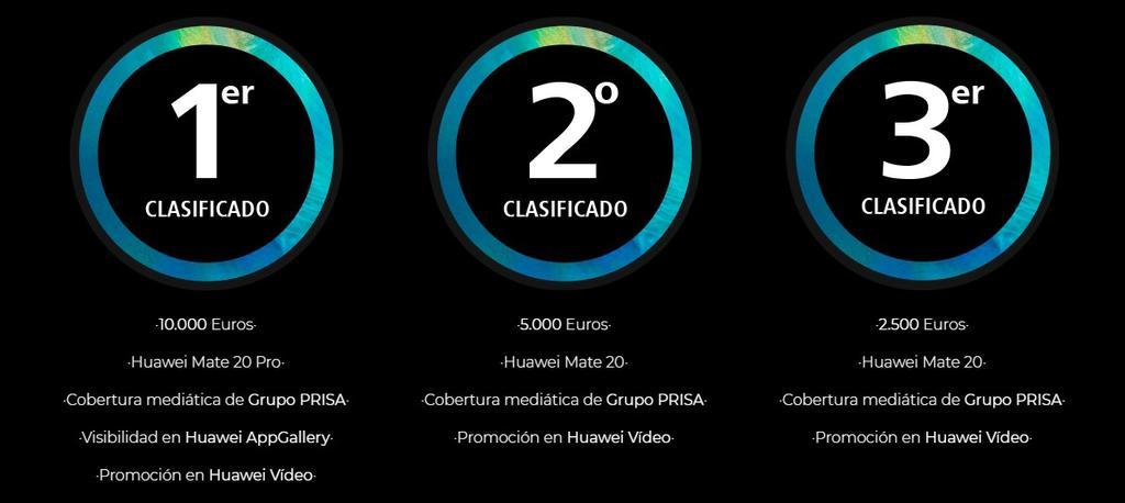 Premios del concurso #StartMeApp