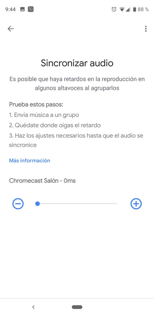 Configurar retardo en Google Chromecast