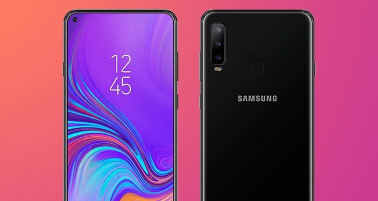 diseño del Samsung Galaxy A8s