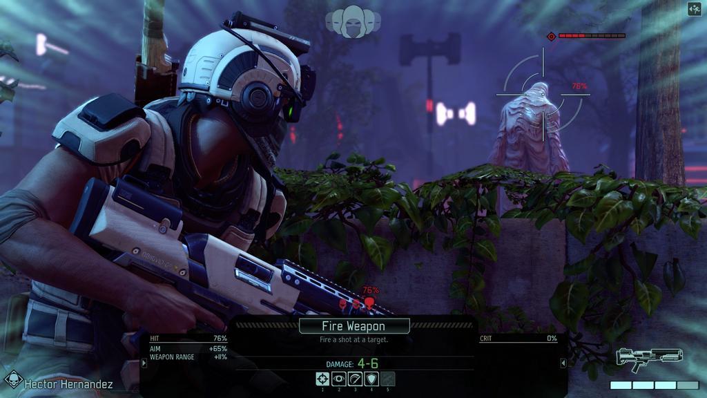 Interfaz del juego XCOM 2