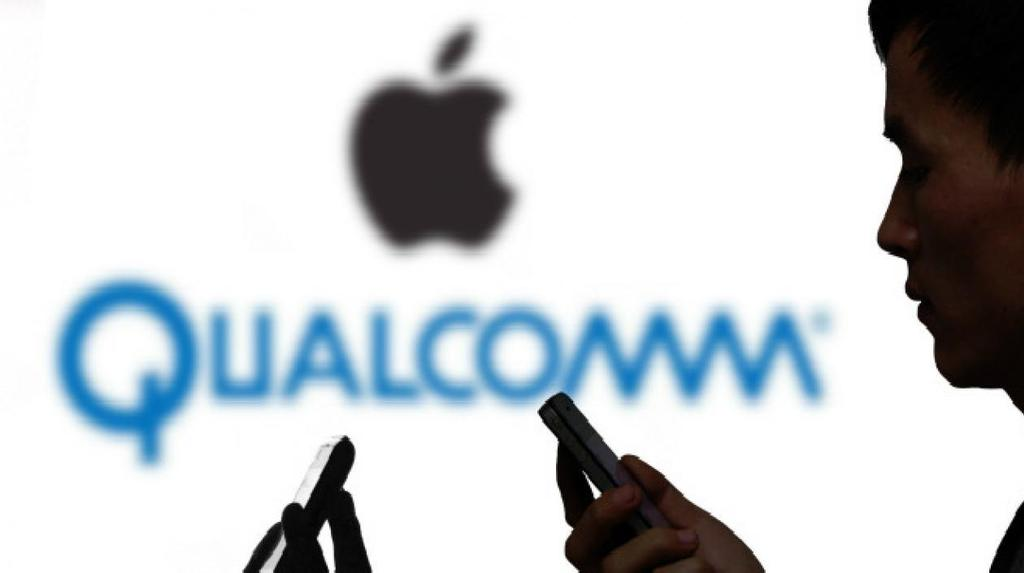 Logo de Qualcomm y Apple
