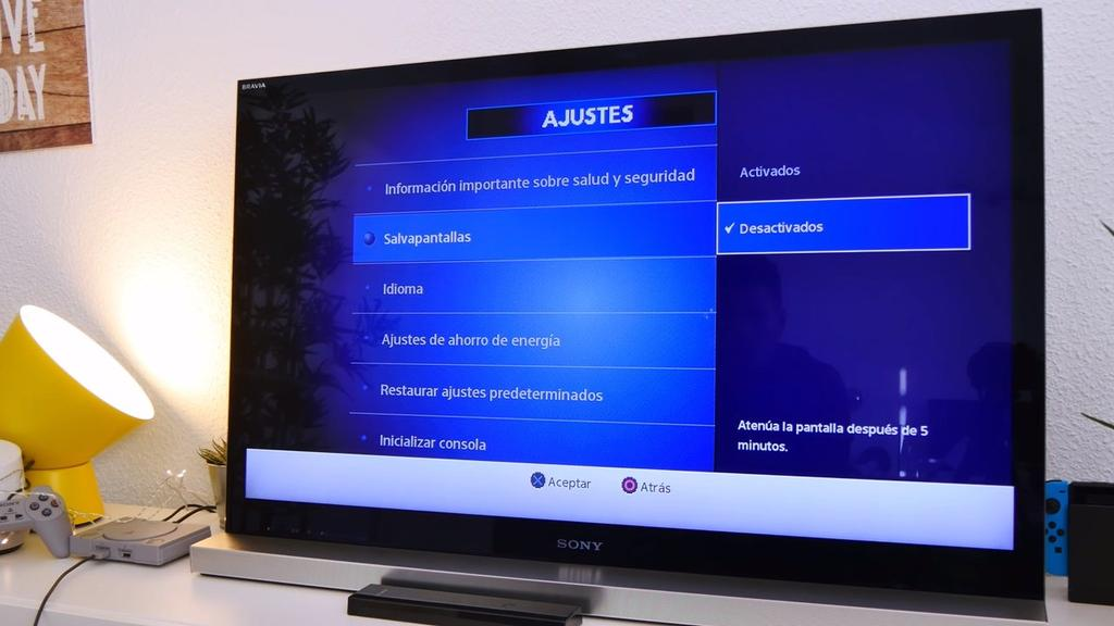 Ajustes en PlayStation Classic