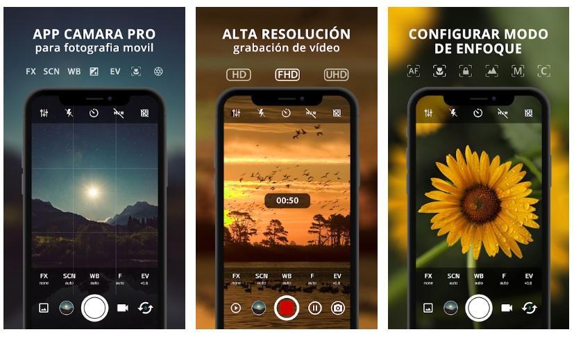 Aplicación Cámara Pro para Android