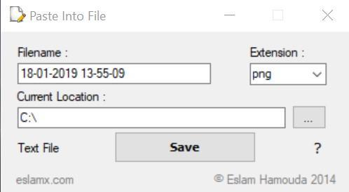 Instalación de Paste InTo File