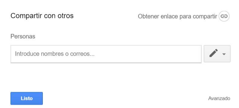 Eliminar compartir archivo en Google Drive