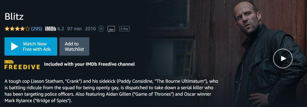 Contenido gratuito en IMDb Freedrive