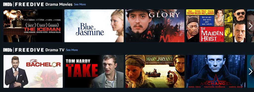 Pantalla inicio IMDb Freedrive