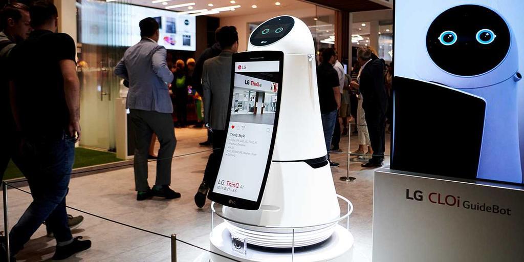 Robot con inteligencia artificial de LG