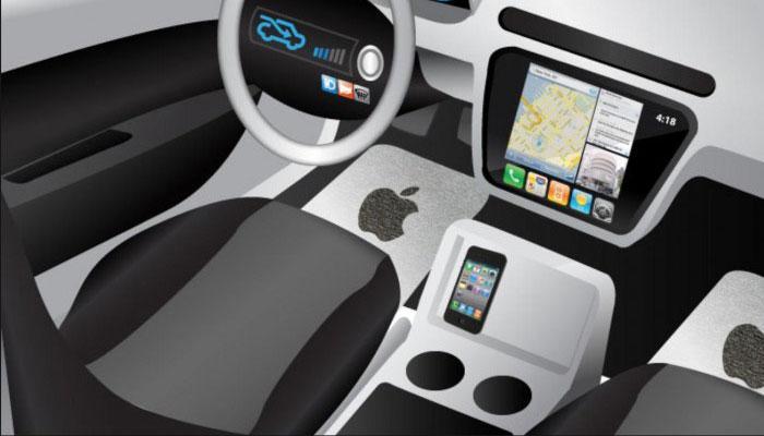 Posible interior del coche de Apple