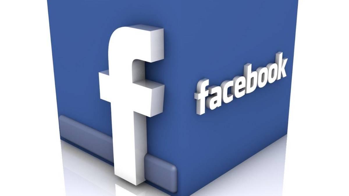 Logotipo 3D de Facebook