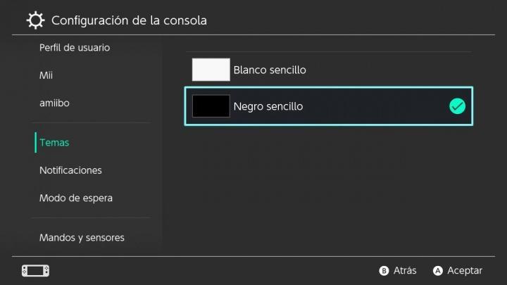 Uso de Modo oscuro en Nintendo Swtich