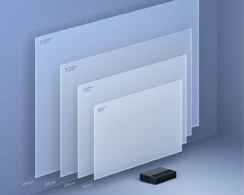 Pulgadas proyeción Xiaomi Mijia Laser Projector TV