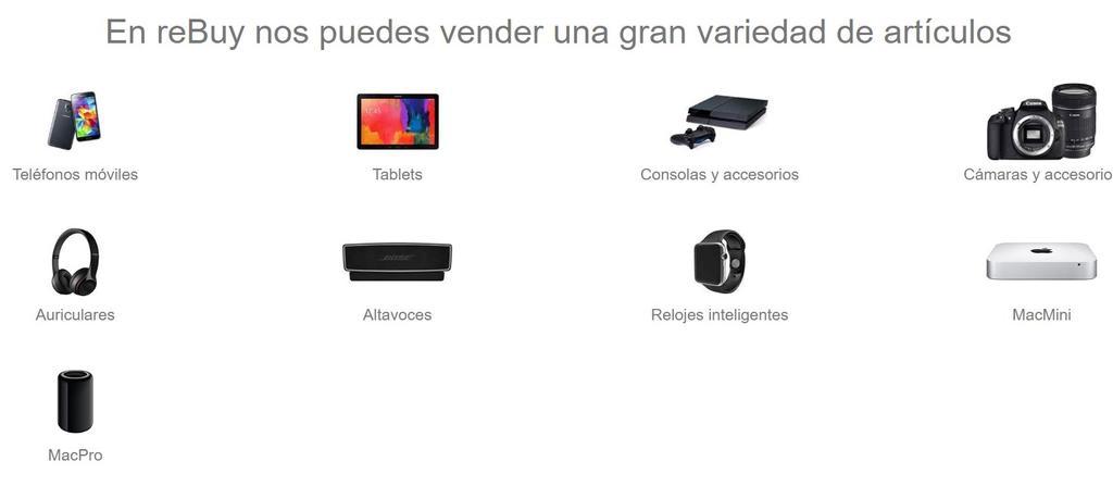 Vender producto en la web de reBuy