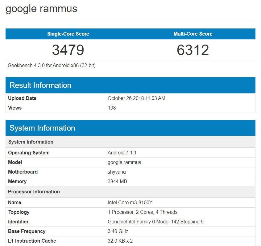 benchmark de otro portátil Google