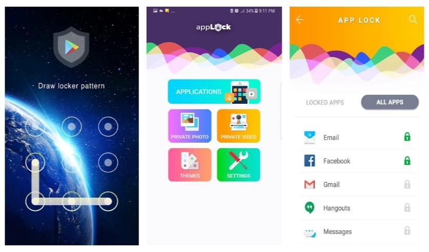 Aplicación App lock & gallery vault pro