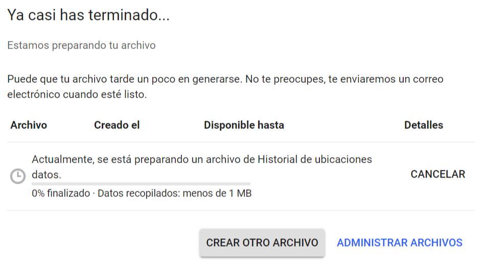 Crear archivo de ubicaciones de Google