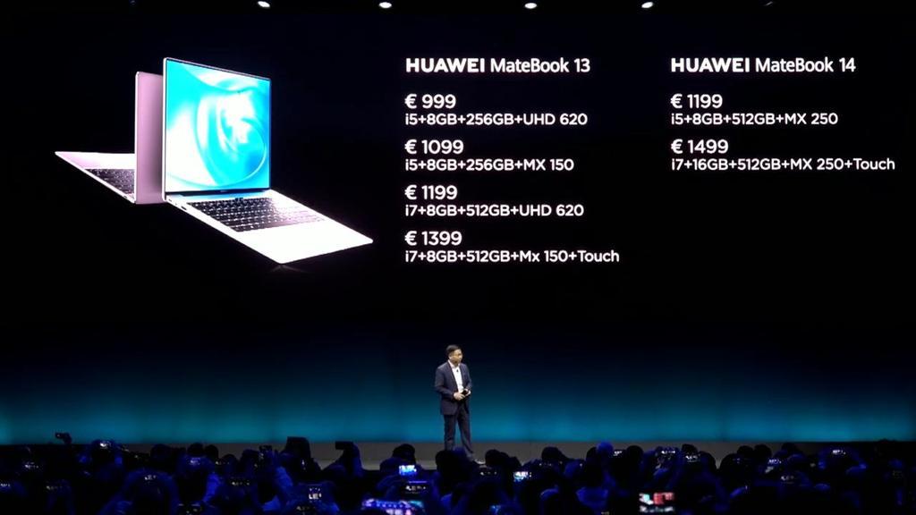Precio el Huawei MateBook 13 y Huawei MateBook 14