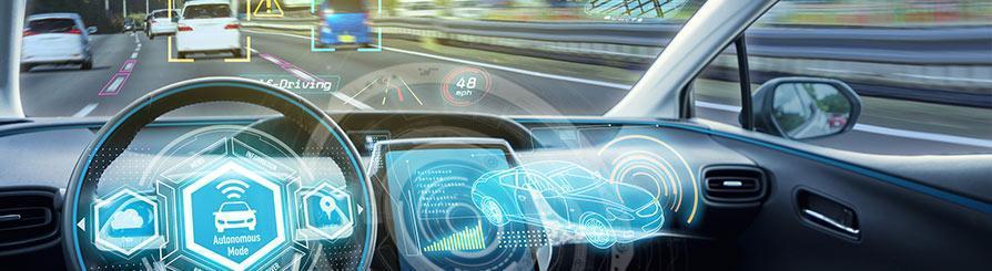 Interior coche del futuro