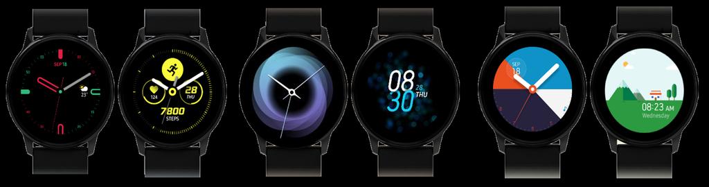 Interfaz de los Samsung Galaxy Watch Active