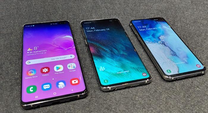 Todos los teléfonos dela gama Samsung Galaxy S10