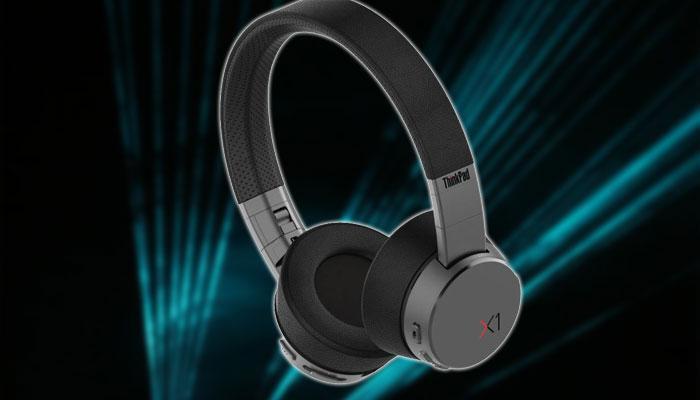 Auriculares Lenovo ANC X1 con fondo negro