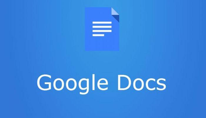 Logotipo de Google Docs con fondo azul