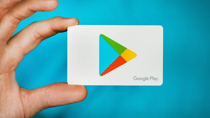 Logotipo de Play Store con fondo azul