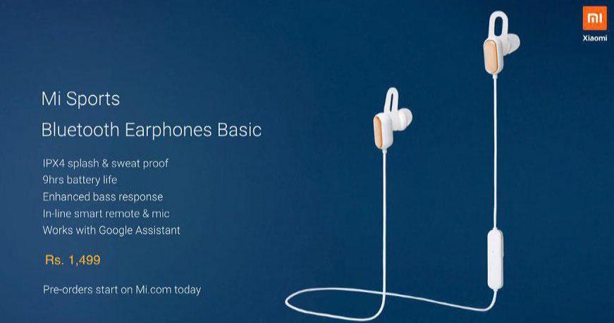 Auriculares Xiaomi Mi Sports Bluetooth Earphones Basic