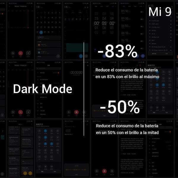 Modo oscuro del Xiaomi Mi 9