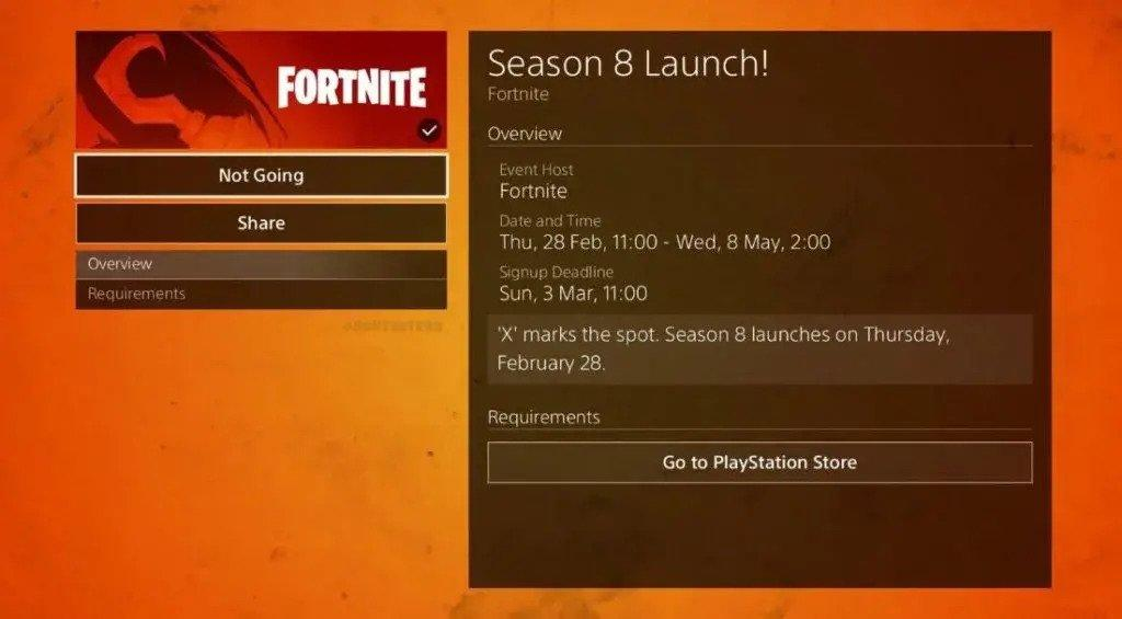 Fecha temporada 8 Fortnite