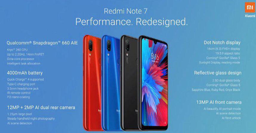 Características del nuevo Redmi Note 7
