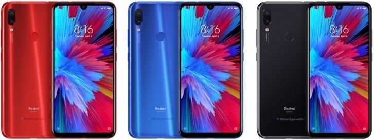 Colores del teléfono Redmi Note 7 Pro
