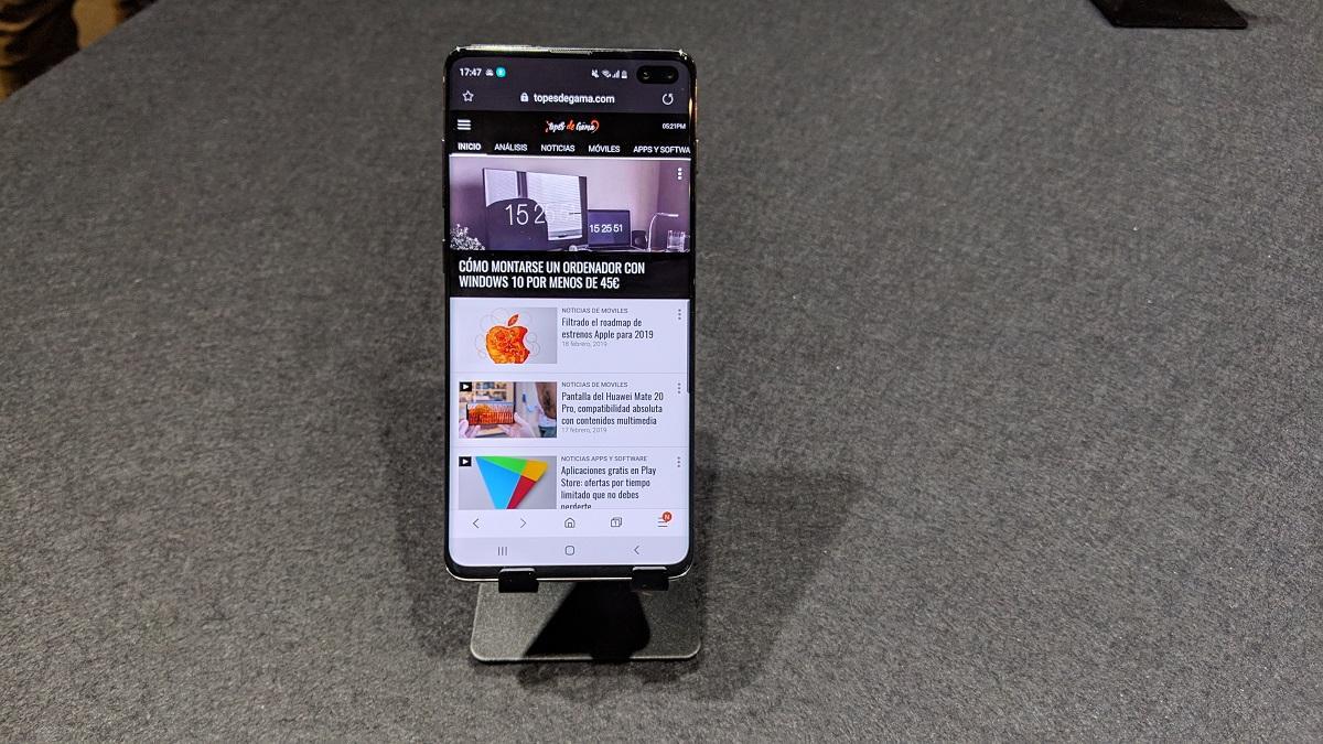 Frontal del Samsung Galaxy S10