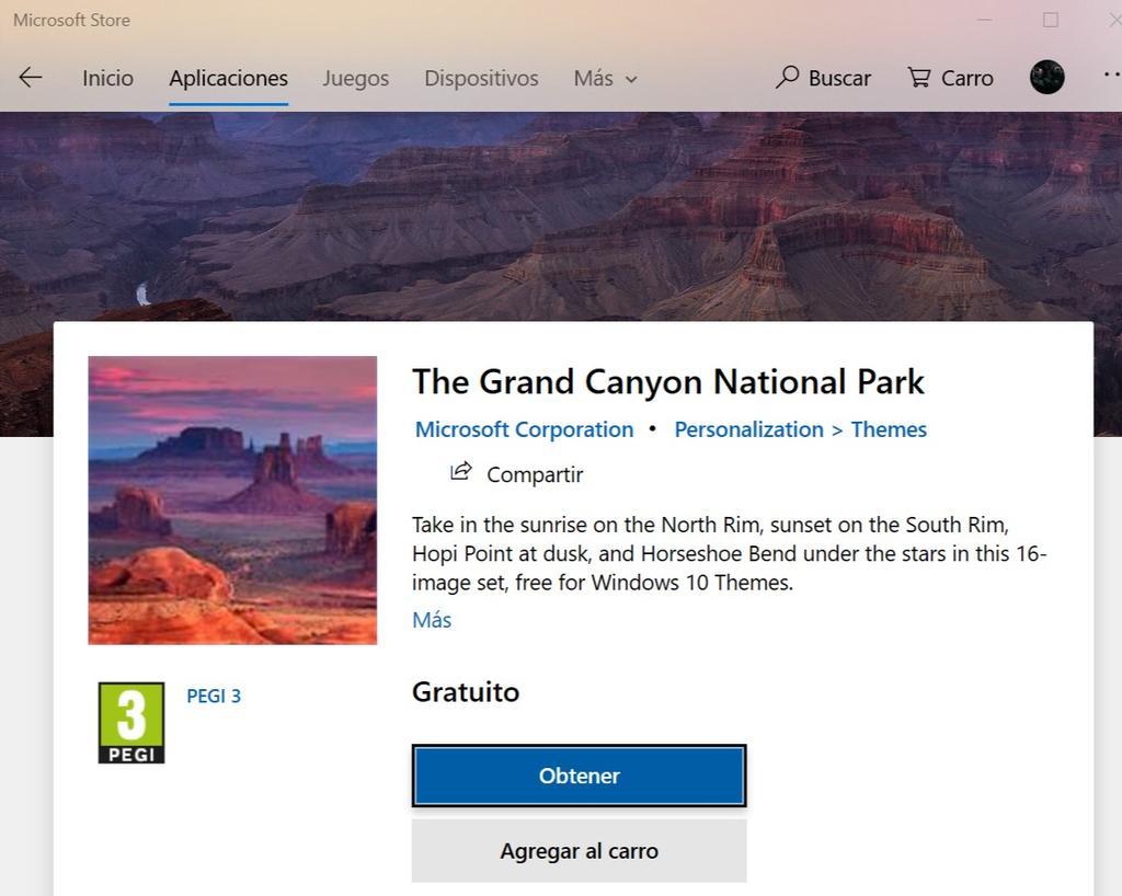 Obtener nuevo tema de Microsoft para Windows 10
