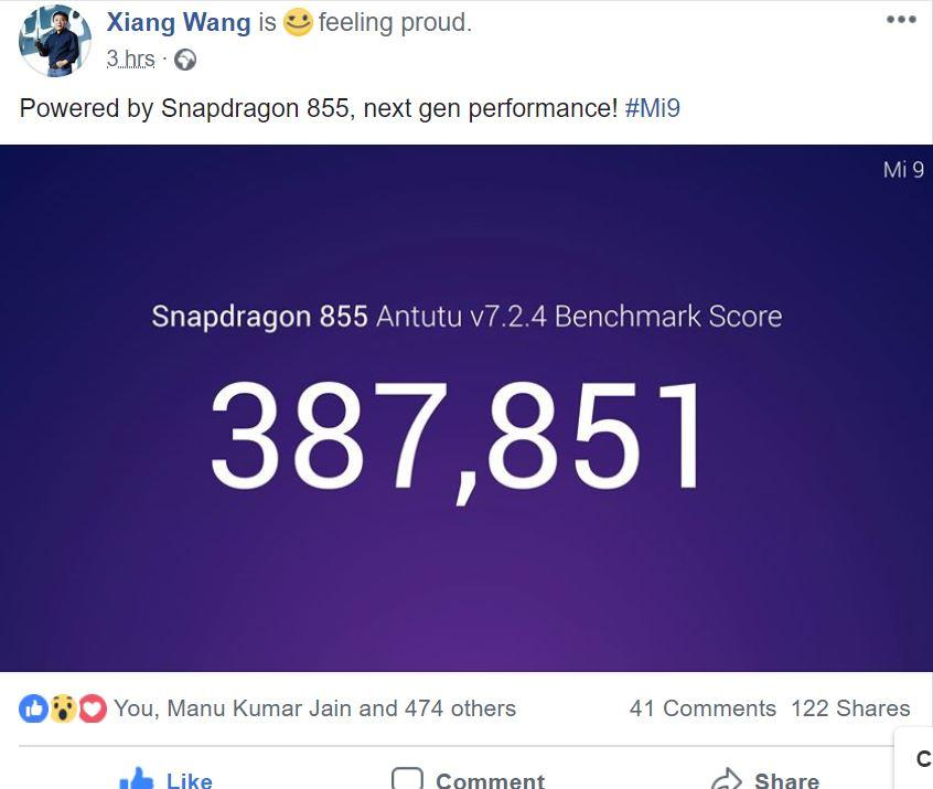 Resultados en AnTuTu del Xiaomi Mi 9