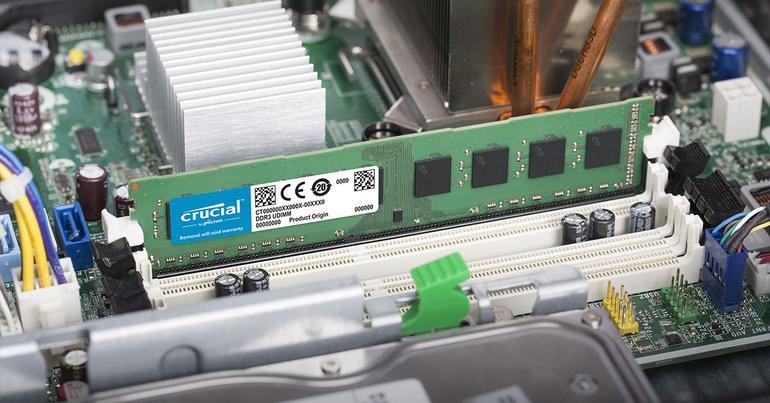 crucial memoria RAM en placa