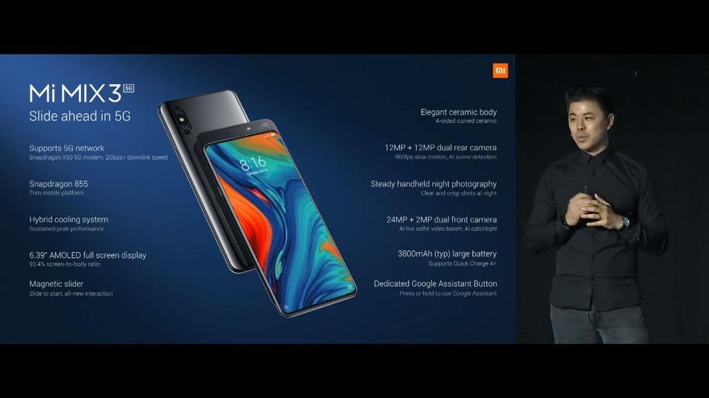 Características completas del Xiaomi Mi Mix 3 5G