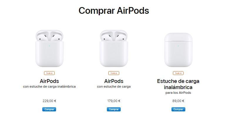 Precio AirPods segunda generación