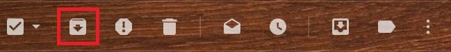 Botón archivar mensajes en Gmail