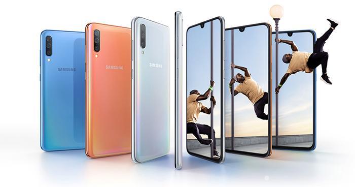 Diseño del teléfono Samsung Galaxy A70