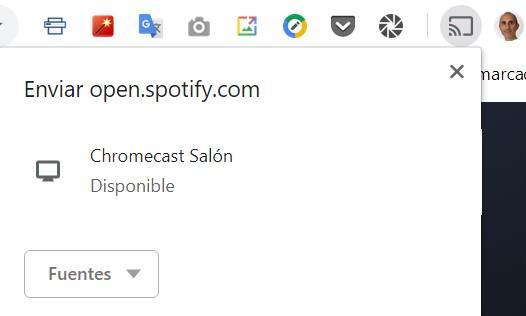 Enviar contenidos desde Google Chrome hacia un Chromecast