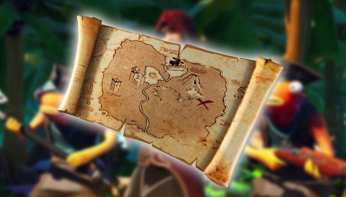 Mapa del tesoro en Fortnite