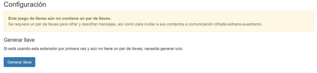 Generear llave en Mailvelope para Gmail