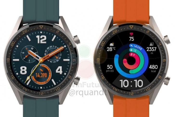 Diseño del smartwatch Huawei Watch GT Elegant que llegará con el Huawei P30