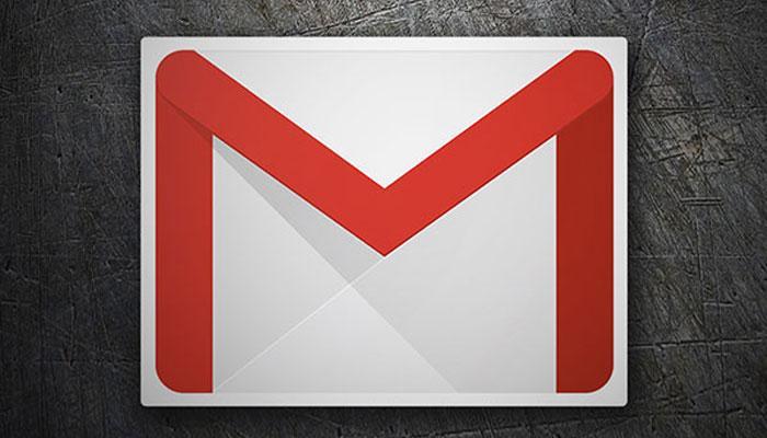 Logotipo Gmail con fondo negro