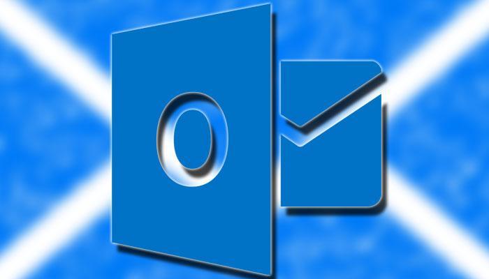 Logotipo de Outlook con fondo azul